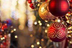 Decorazioni di Natale Immagini Stock