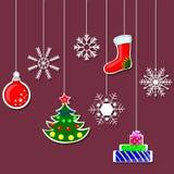 Decorazioni di Natale Immagine Stock Libera da Diritti