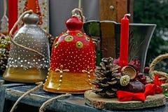 Decorazioni 2 di Natale Fotografia Stock Libera da Diritti