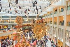Decorazioni di Natale al punto di riferimento Fotografie Stock Libere da Diritti