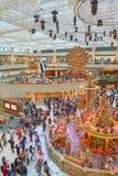 Decorazioni di Natale al punto di riferimento Immagine Stock