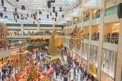 Decorazioni di Natale al punto di riferimento Fotografia Stock Libera da Diritti