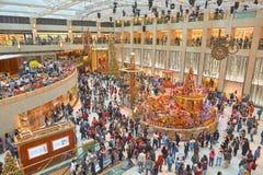 Decorazioni di Natale al punto di riferimento Fotografia Stock