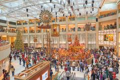 Decorazioni di Natale al punto di riferimento Immagini Stock