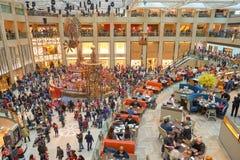 Decorazioni di Natale al punto di riferimento Immagine Stock Libera da Diritti