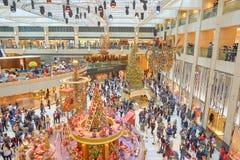 Decorazioni di Natale al punto di riferimento Fotografie Stock