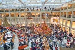 Decorazioni di Natale al punto di riferimento Immagini Stock Libere da Diritti