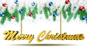 Decorazioni di Natale, Buon Natale, illustrazione 3D Fotografia Stock Libera da Diritti