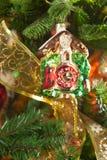 Decorazioni di Natale, che imita i vecchi giorni Fotografia Stock Libera da Diritti
