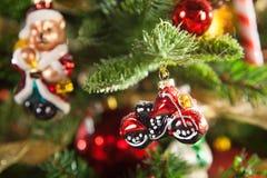 Decorazioni di Natale, che imita i vecchi giorni Fotografia Stock