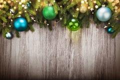 Decorazioni di Natale con effetto del bokeh Fotografie Stock Libere da Diritti