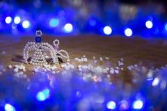 Decorazioni di Natale con gli angeli fotografie stock libere da diritti