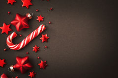 Decorazioni di Natale con la caramella Fotografie Stock Libere da Diritti