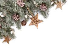 Decorazioni di Natale con la stella di legno Fotografie Stock
