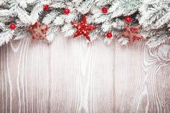 Decorazioni di Natale con le stelle Fotografie Stock