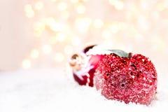 Decorazioni di Natale con lo spazio della copia per testo accogliente. Christm Fotografia Stock Libera da Diritti