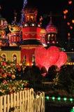 Decorazioni di Natale a Copenhaghen, Danimarca fotografia stock libera da diritti