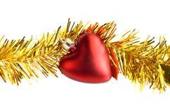 Decorazioni di Natale del cuore Fotografie Stock