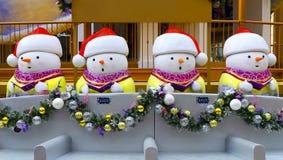 Decorazioni di natale del pupazzo di neve Fotografia Stock
