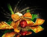 Decorazioni di Natale della composizione Fotografie Stock