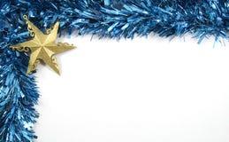 Decorazioni di Natale della stella e del lamé Fotografia Stock