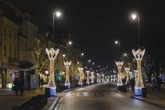 Decorazioni di Natale di Varsavia al barbacane Fotografie Stock Libere da Diritti
