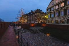 Decorazioni di Natale di Varsavia al barbacane Immagine Stock Libera da Diritti