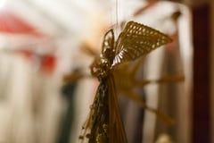 Decorazioni di Natale e corda retro Ucraina Fotografie Stock Libere da Diritti