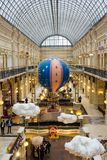 Decorazioni di Natale in GOMMA - centro commerciale a MOSCA Fotografie Stock