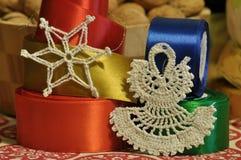 Decorazioni di natale Natale Notte di Natale Ornamenti di natale Immagine Stock