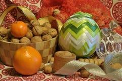 Decorazioni di natale Natale Ornamenti di natale Immagini Stock Libere da Diritti