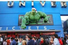 Decorazioni di Natale nei cinema universali Fotografia Stock