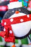 Decorazioni di Natale - ornamento del pinguino Fotografia Stock Libera da Diritti