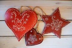 Decorazioni di Natale, rustiche Fotografia Stock Libera da Diritti