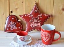 Decorazioni di Natale, rustiche Fotografie Stock