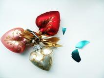 Decorazioni di Natale sotto forma di cuore Immagini Stock Libere da Diritti