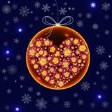 Decorazioni di Natale sotto forma di palla di vetro con un floreale royalty illustrazione gratis