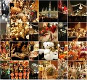Decorazioni di Natale sul mercato a Vienna Immagine Stock