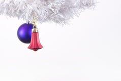 Decorazioni di Natale sull'albero di cristmas Fotografia Stock Libera da Diritti