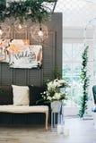 Decorazioni di nozze con i fiori nello stile di Boho Fotografia Stock Libera da Diritti