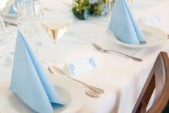 Decorazioni di nozze - etichetta di nome Fotografie Stock