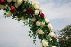 Decorazioni di nozze per il marrriage all'aperto immagine stock libera da diritti