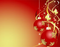 Decorazioni di nuovo anno Fotografia Stock Libera da Diritti