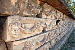 Decorazioni di pietra nei Aphrodisias Fotografia Stock Libera da Diritti