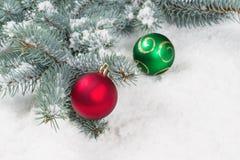 Decorazioni di stagione di Natale Fotografia Stock