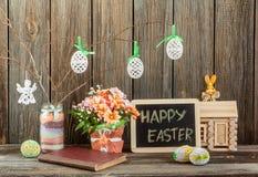 Decorazioni domestiche di Pasqua Fotografia Stock Libera da Diritti