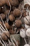 Decorazioni domestiche floreali asciutte Fotografia Stock