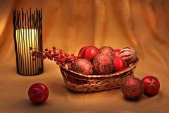 Decorazioni ed ornamenti di Chirstmas immagine stock