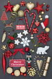 Decorazioni ed ornamenti di Natale Fotografie Stock Libere da Diritti