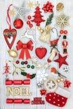 Decorazioni festive di natale Immagine Stock